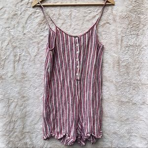 Zara Pink White Striped Romper